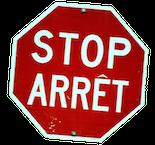 Frenglish stopsign